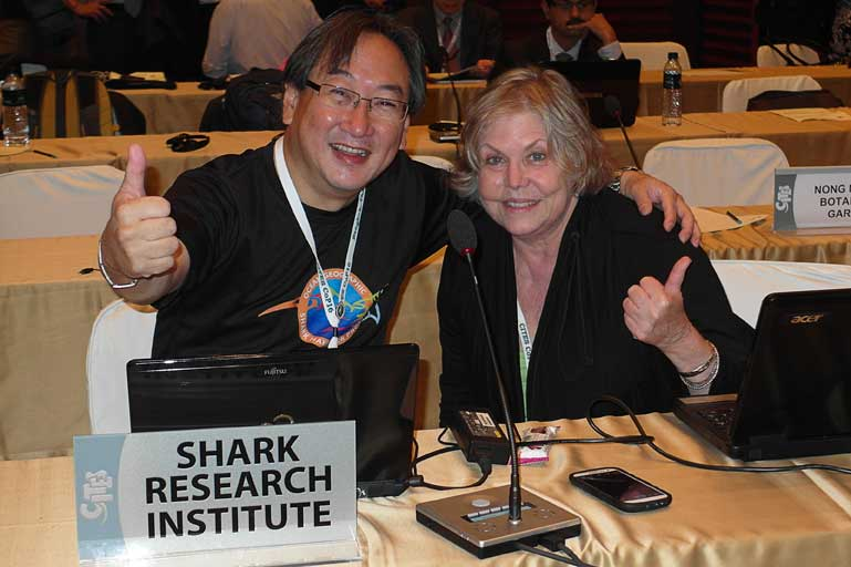 OG with Marie Levine Shark Research Inst